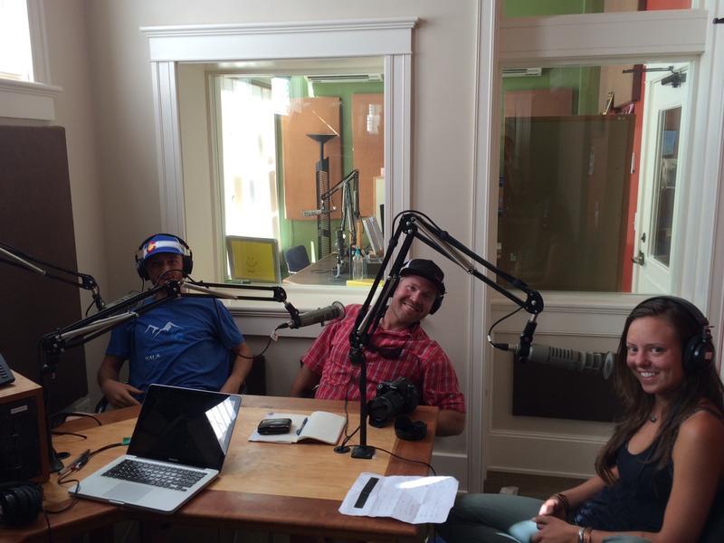 Cody, Ben, and Jules in the KSJD studio