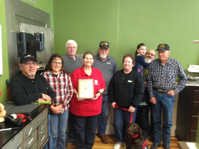 Local veterans with Jack and Janelle Kays, owners of Jack and Janelle's Country Kitchen