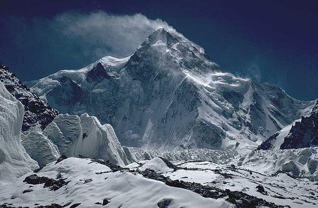 A photo of K2 taken by a mountaineer in 1986.