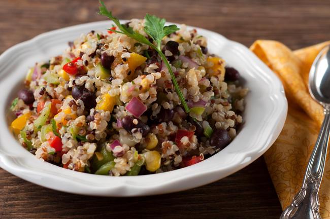 "Morris's cookbook, ""Taste of Colorado,"" includes a recipe for quinoa, black bean and corn pilaf (pictured)"