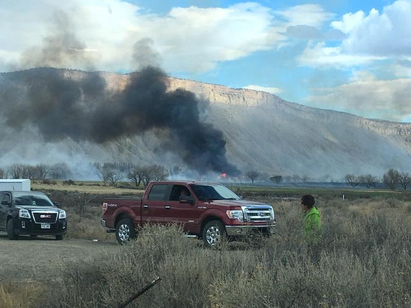 A Facebook user posted the above photo of the fire at about 5pm Saturday on KSJD's Facebook page. Several structures north of the blaze were threatened, and officials issued mandatory evacuations for nearby residents.
