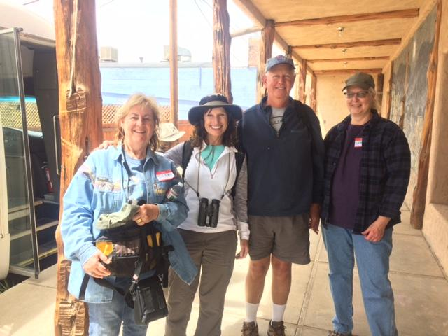 Several participants of the Ute Mountain Mesa Verde Birding Festival paused for a shot after completing one of their tours on Friday