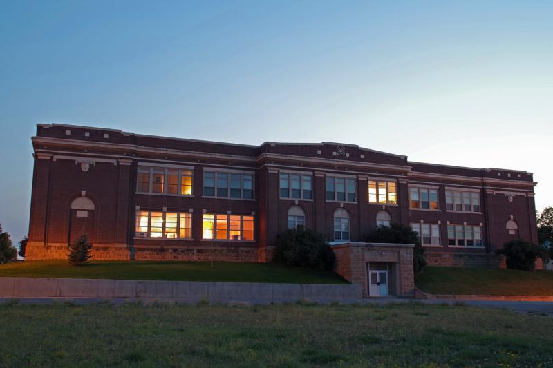 Fergus County High School building, Lewistown, MT.