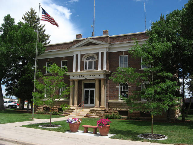 The San Juan County Courthouse in Monticello.