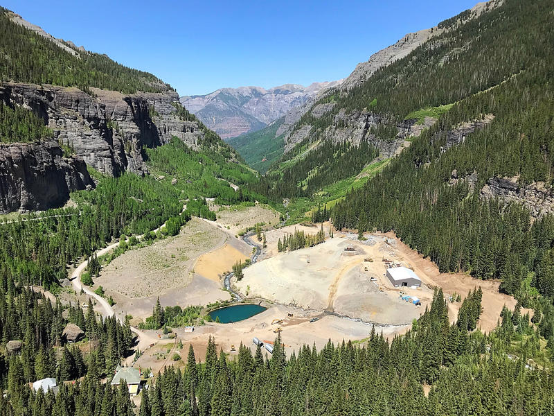 Overview of Camp Bird Mine reclamation project.