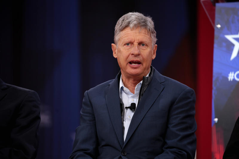 Gary Johnson speaking at the 2018 Conservative Political Action Conference.