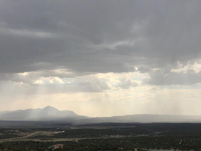 A series of afternoon and evening showers began to fall in Montezuma Valley on July 5. Some area residents reported hail in addition to thunder and lightning across the region.