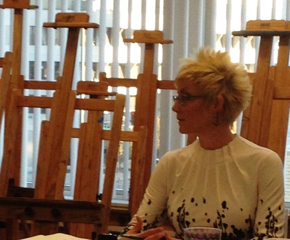 Local artist kat allie finds her niche at otc ksmu radio for Randy stewart builder
