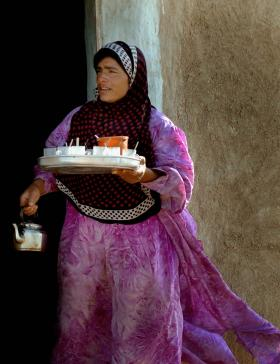A Yezidi woman in the Sinjar Mountain Range, in the north of Iraq, near the Syrian border.