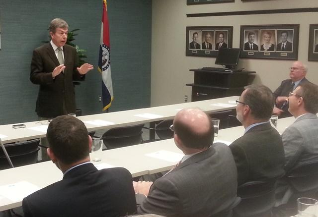 Sen. Blunt (R-Missouri) speaks during the Governmental Relations Committee Meeting Friday in Springfield/Credit: Scott Harvey