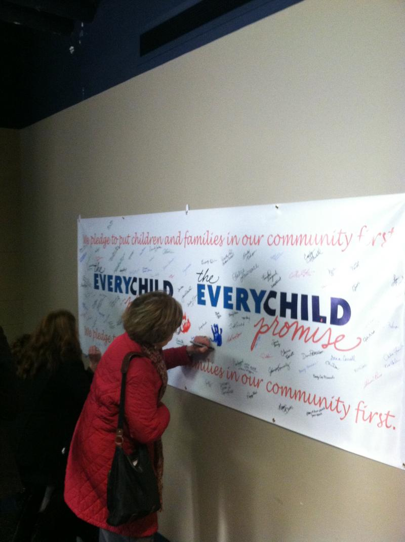 Over 200 Supporters Signed the Every Child Promise at the ECP Rollout Jan. 21st/Credit: Mike Smith