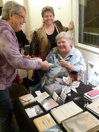 Marideth Sisco signs copies of her latest CD, a Christamas album, in West Plains. (Photo credit: Marideth Sisco)
