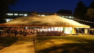Tent Theatre at night.