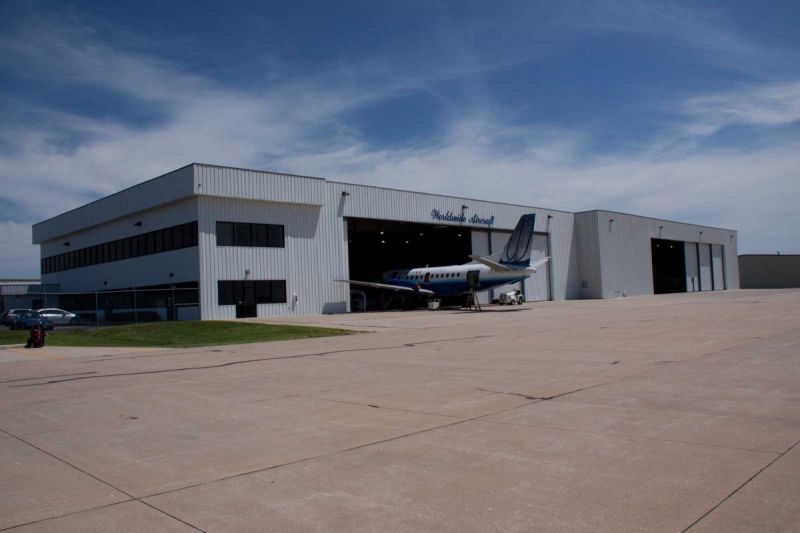 The general aviation expansion project at the airport will create hangar-ready sites to house more corporate and business