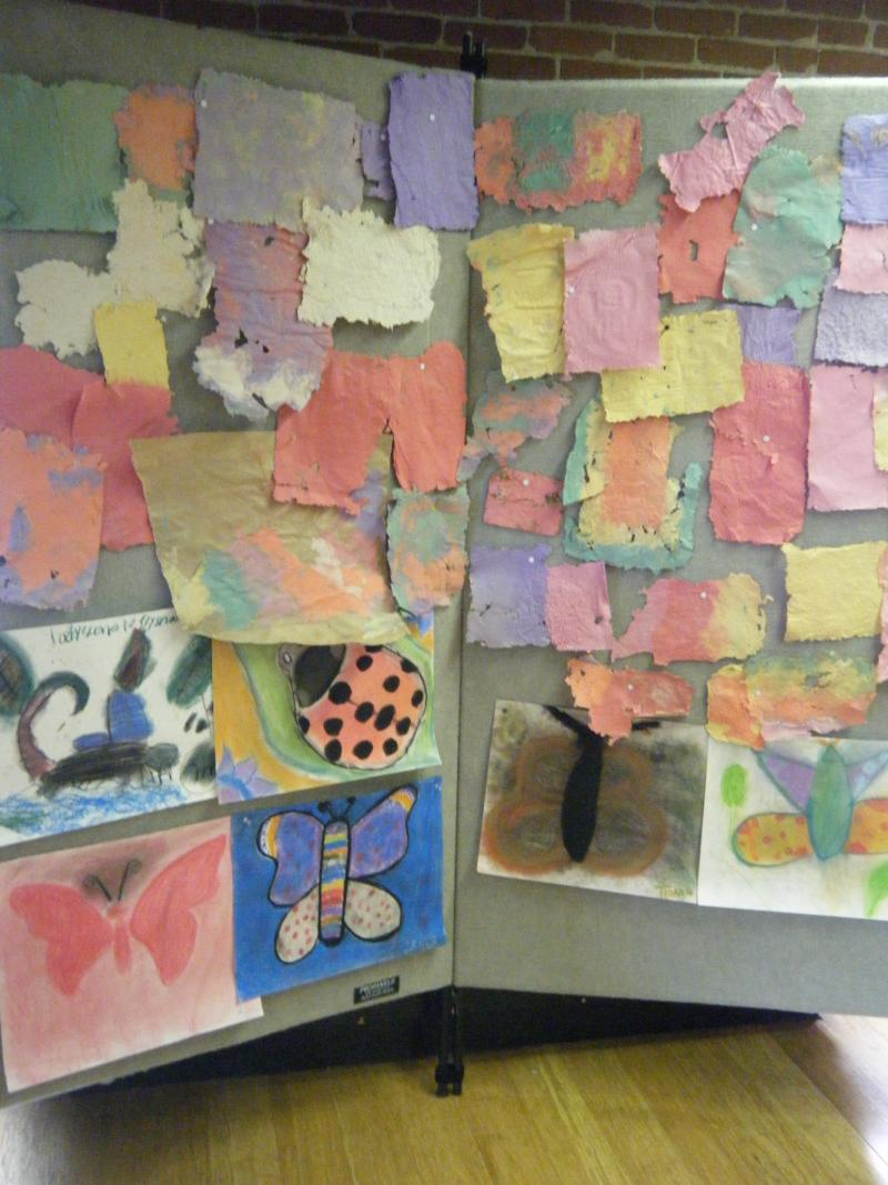"""Arts in the Park"" artwork display at graduation"