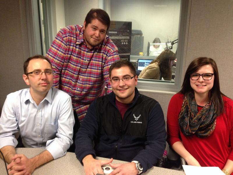 Pictured, from left are Dr. Patrick Scott, Kohl Juranas, Connor Klein and Renee Sanders.