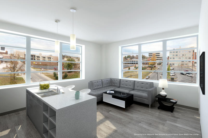 Rendering of apartment at Sky 11