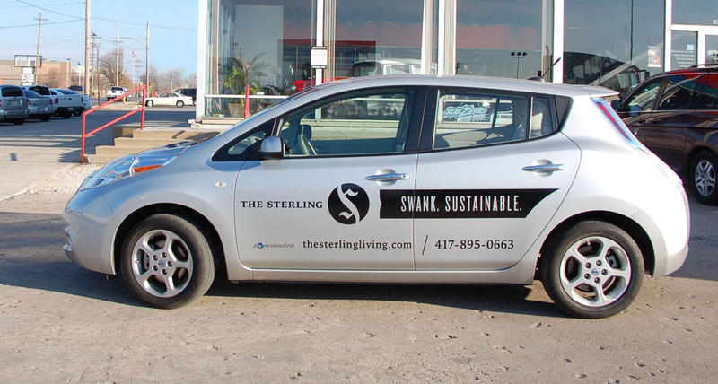The Nissan Leaf, this electric car is part of the Sterling's shared living program.