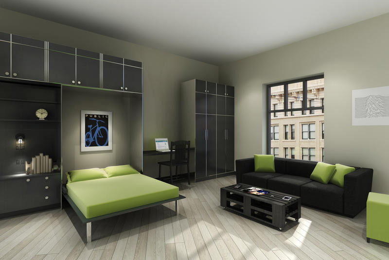 Studio apartment rendering for the Sterling