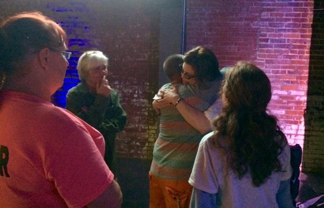 Rohrbaugh hugs supporters following concession.