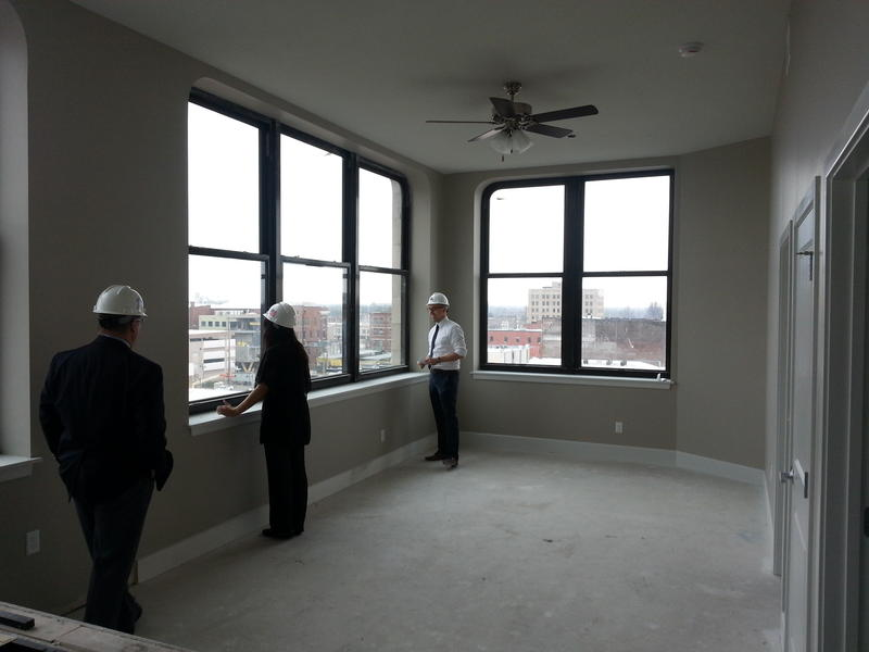 A view from a seventh-floor  corner unit of Heer's Luxury Living