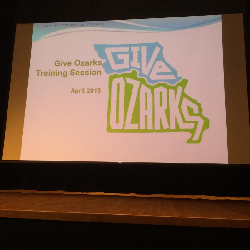 In April the CFO Hosted a Give Ozarks Training Session at the Springfield Art Museum