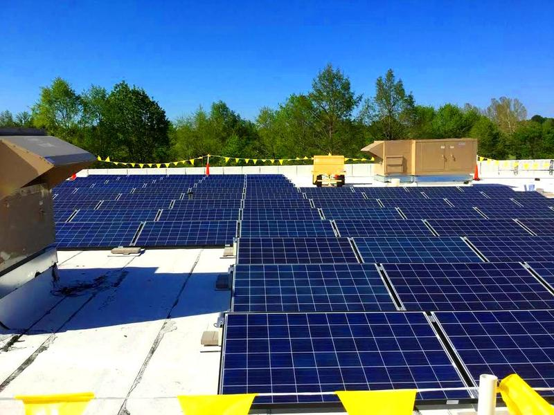 Installation of a 20kW solar panel system on Sherwood Elementary was completed the end of April 2015.