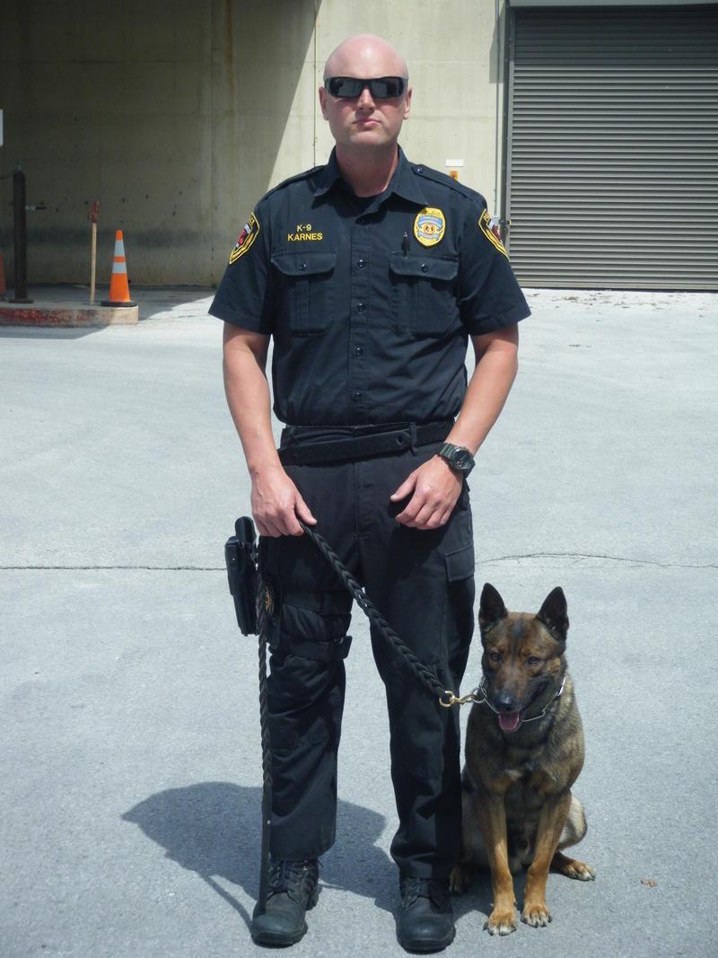 Officer Michael Karnes with K9 Charlie