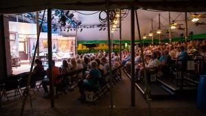 Tent Theatre at night