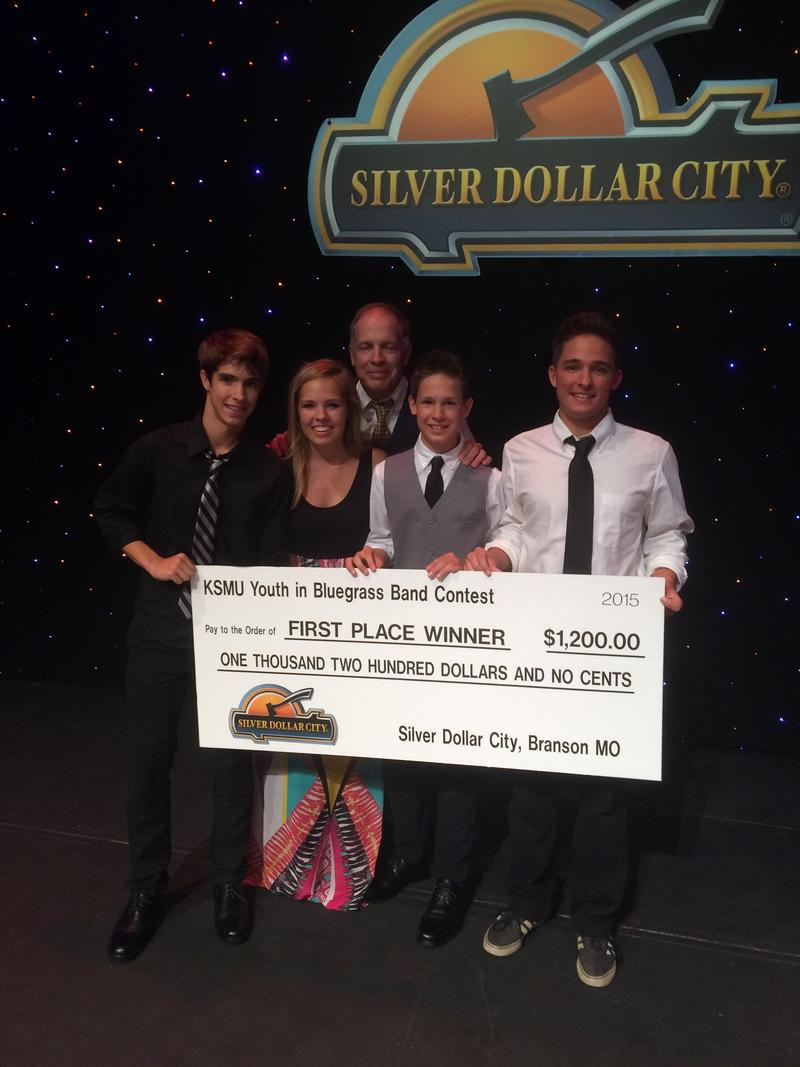 Ash Breeze, from Fayetteville NC won the 14th KSMU Youth in Bluegrass Band Contest at Silver Dollar City