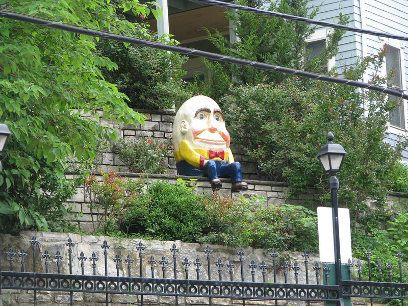 Humpty Dumpty in Downtown Eureka Springs