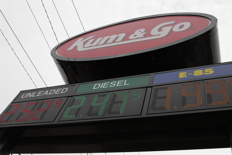 Fuel prices at Kum & Go on Kimbrough and Elm in Springfield on June 30th 2015