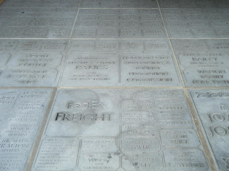 The entrance to the theatre is lined with tiles dedicated to many who have supported the Lyric over the years.