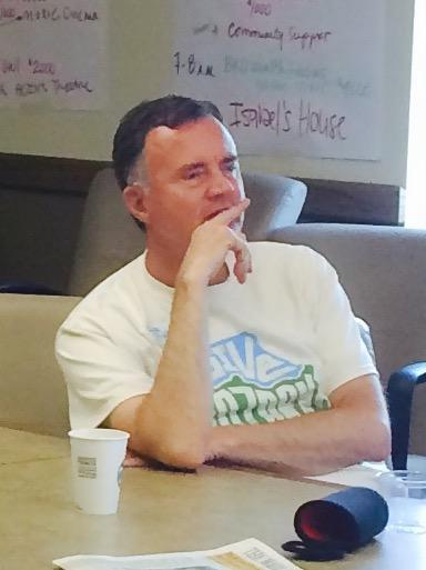 CFO President Brian Fogle Watches the Day of Giving Donations Come In
