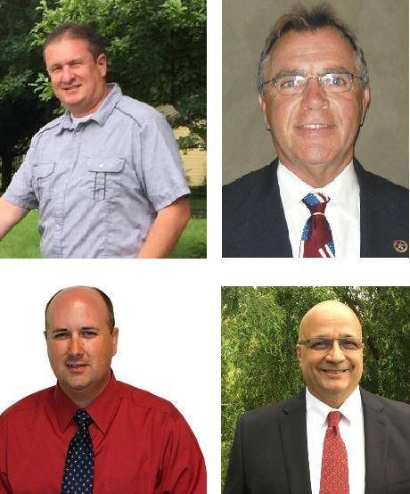 Clockwise, from top left: Keith Mills, Ralph Phillips, Brad Cole, and Ken Lovell.