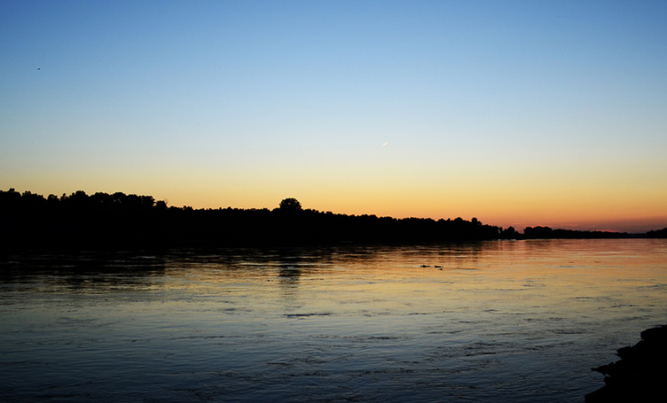 Missouri River at night