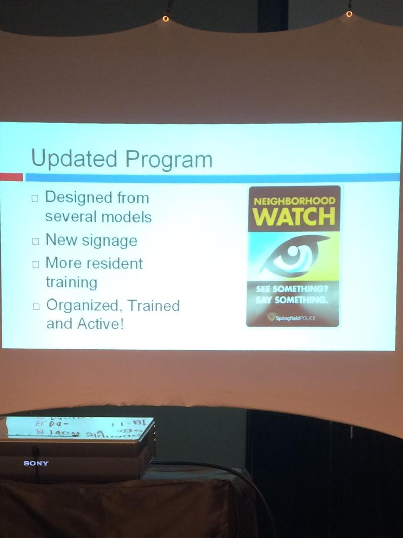 Springfield Neighborhood Watch Training Session Image