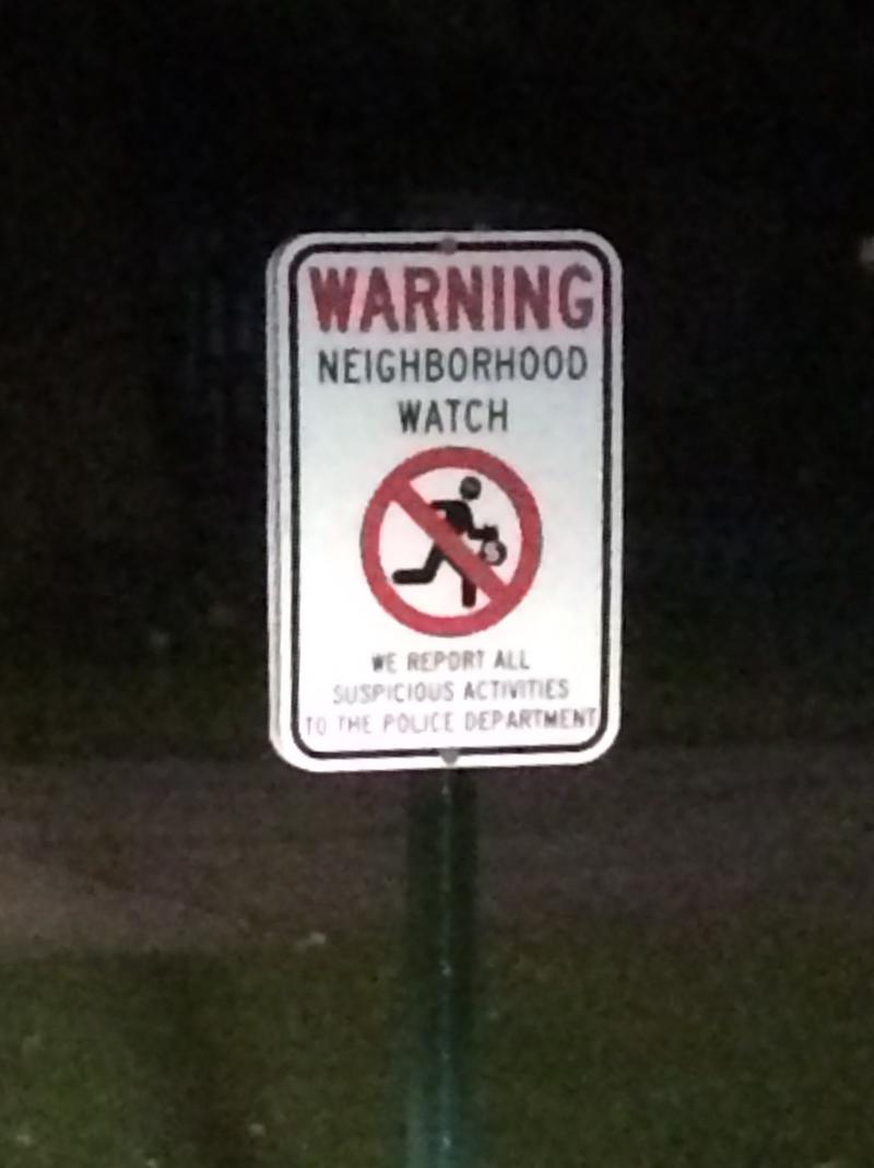A Neighborhood Watch Sign in the Greater Parkcerst Neighborhood