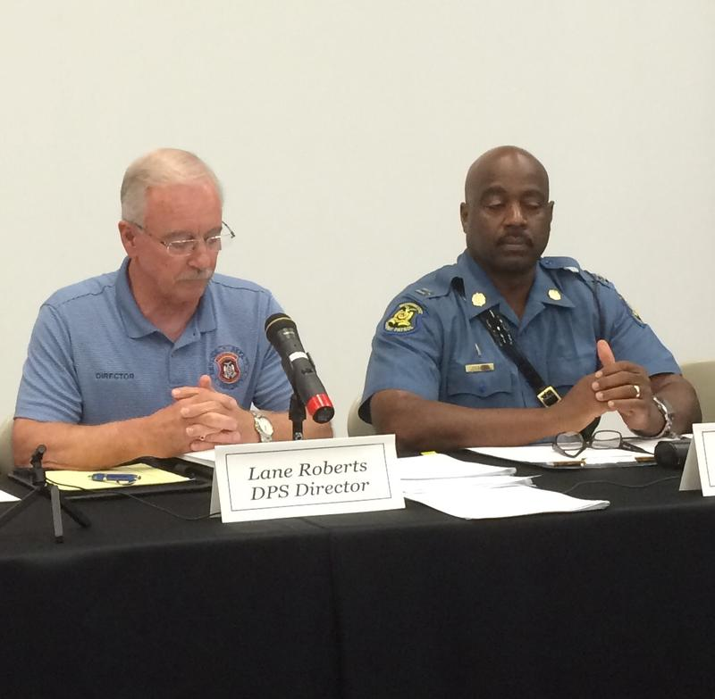POST Commission members, Mo. DPS Director Lane Roberts and Hwy. Patrol Captain Ron Johnson