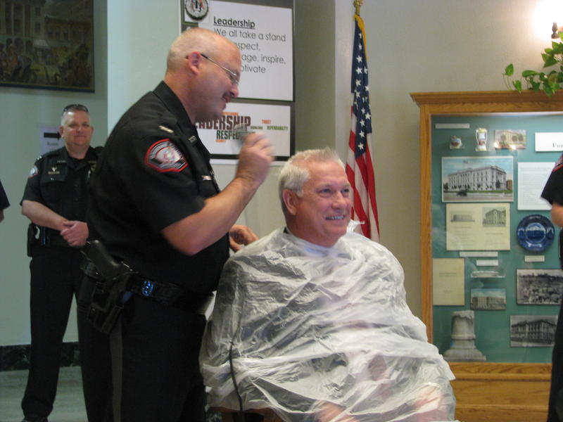 Bob Cirtin Gets His Head Shaved by Jim Arnott