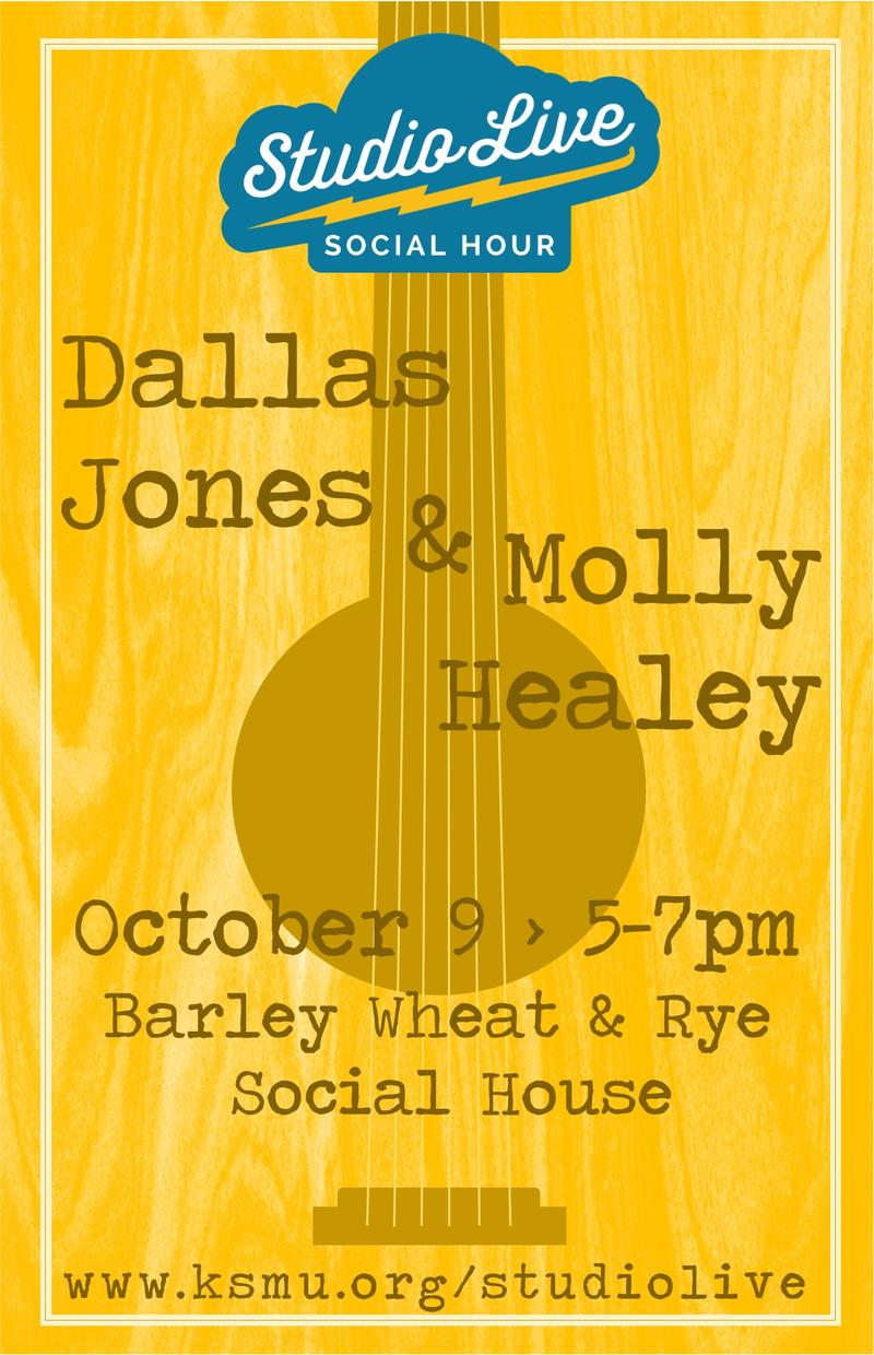 Studio Live Social Hour at Barley Wheat and Rye featuring Dallas Jones and Molly Healey