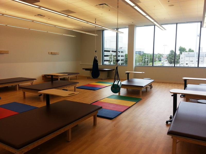 Pediatrics lab on the building's 3rd floor