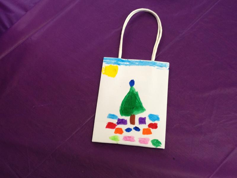 A painted gift-bag.