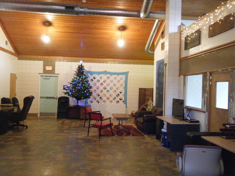 Offices at the Fairbanks decorated for the holidays