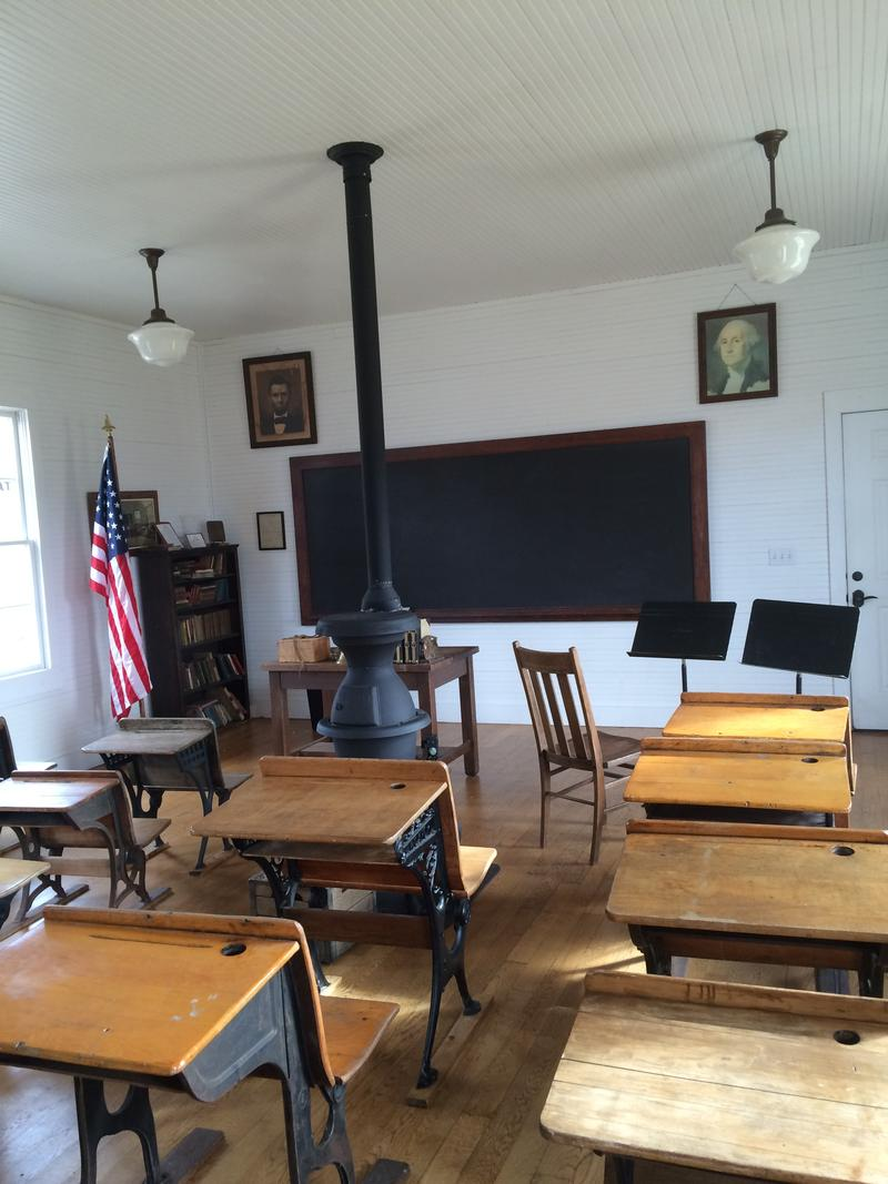 Inside MSU's 1 Room Schoolhouse Next to Greenwood Lab School
