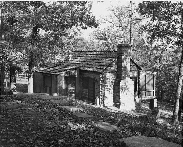 Civilian Conservation Corps Cabin at Buffalo Point, Buffalo National River, Circa 1950