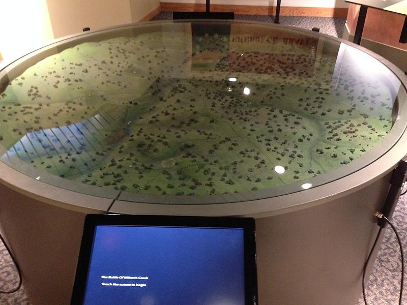 Another popular feature at the Battlefield's Visitor Center: the interactive electronic map of the battlefield grounds.