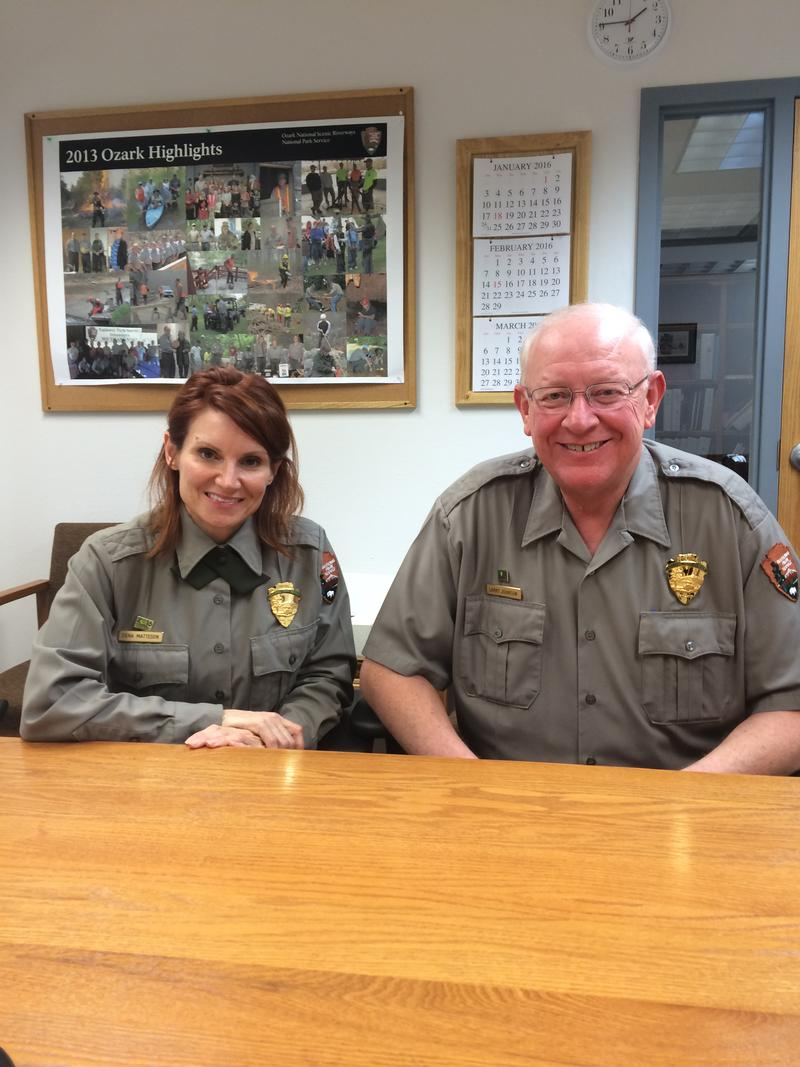 ONSR Chief of Interpretation Dena Matteson and Park Superintendent Larry Johnson