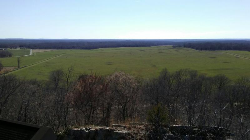 From atop the East Overlook at Pea Ridge National Military Park.