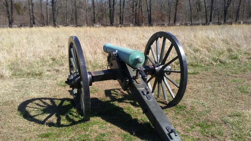 A cannon at Leetown Battlefield, some from as early as the 1840s.
